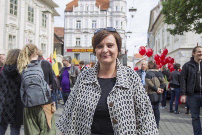 Klubobfrau und Spitzenkandidatin Claudia Klimt-Weithaler (KPÖ) .