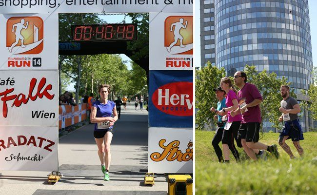 Sport-Event in Wien: Der Millennium City Run.