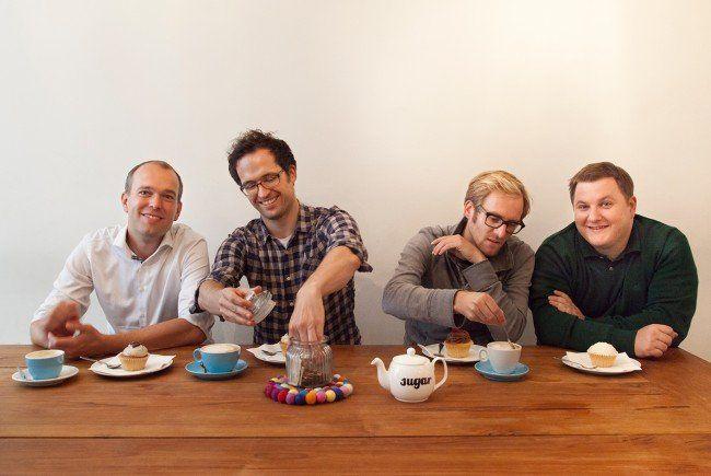 Das Gründerteam: (v.l.n.r.) Frank Westermann, Gerald Stangl, Fredrik Debong und Michael Forisch