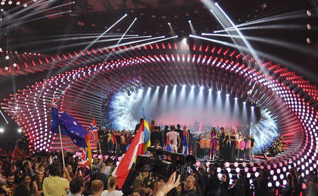 Bei der Probe standen alle Finalteilnehmer gemeinsam auf der Bühne.
