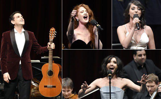 Opern- und ESC-Stars sind in Wien gemeinsam aufgetreten.