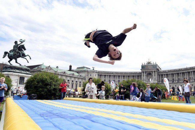 Spiel, Spaß und Sonnenschein am Wiener Stadtfest.