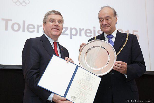 IOC-Präsident Bach mit Akademie-Präsident Felix Unger