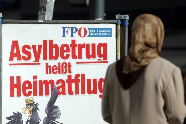 Wahlplakat der FPÖ zur Nationalratswahl