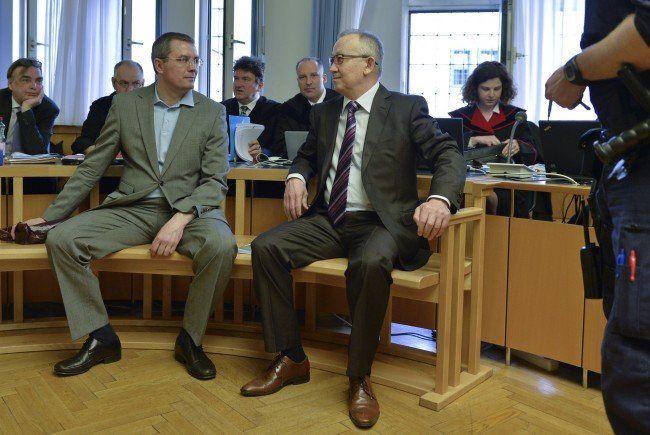 Der ehemalige Chef des kasachischen Geheimdiensts KNB, Alnur Mussayev, und der frühere Sicherheitsberater von Rakhat Aliyev, Vadim Koshlyak.