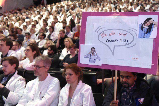 Spitalsärzte - 93,45 Prozent der Wiener KAV-Ärzte bereit zum Streik