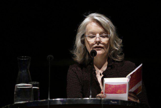 """Die Schriftstellerin Marlene Streeruwitz während einer Lesung anl. der Eröffnung des Literaturfestivals """"O-Töne"""" in Wien"""