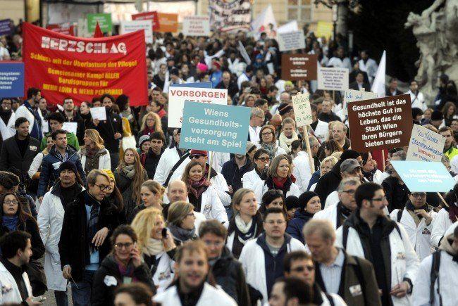 Spitalsärzte - Wiener KAV: Gewerkschaft schließt Streik aus