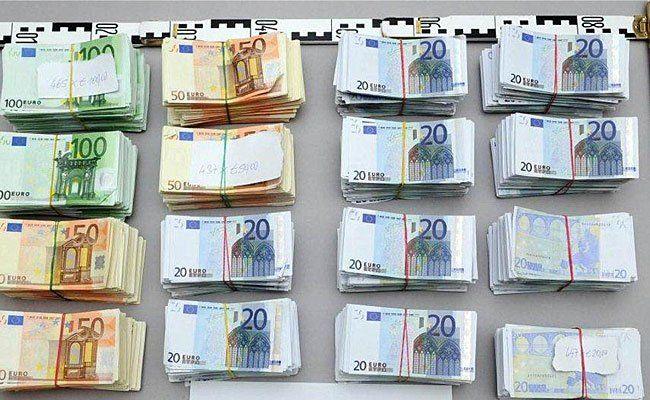 Das Falschgeld: Ein Teil der sichergestellten Scheine