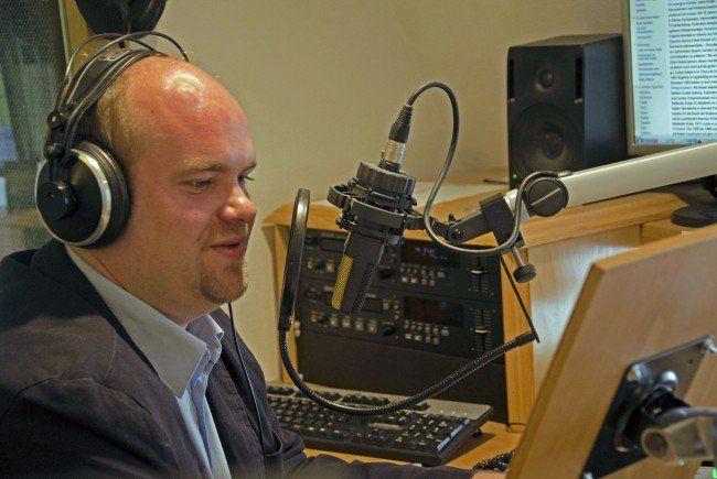 Michael Gmasz von Radio Klassik im Studio.