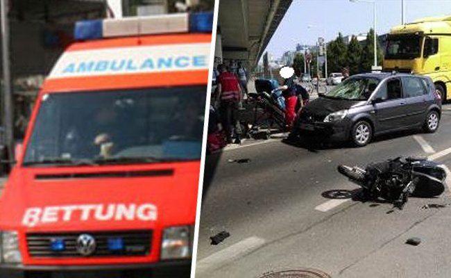 Auto rammt Moped: Lenker schwer verletzt
