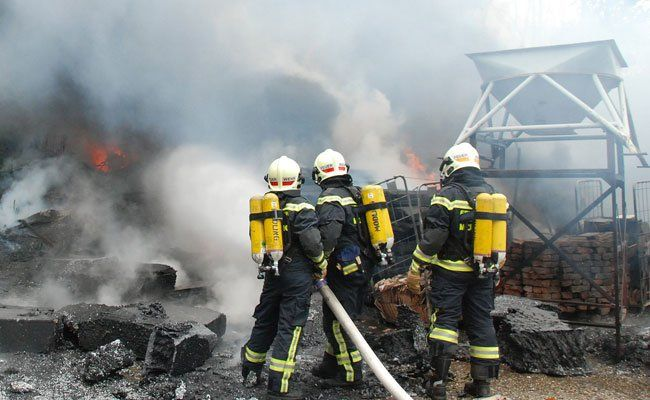 Rund 70 Feuerwehrleute waren vor Ort.