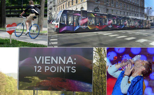 Der ESC war im Wiener Stadtbild sehr präsent.