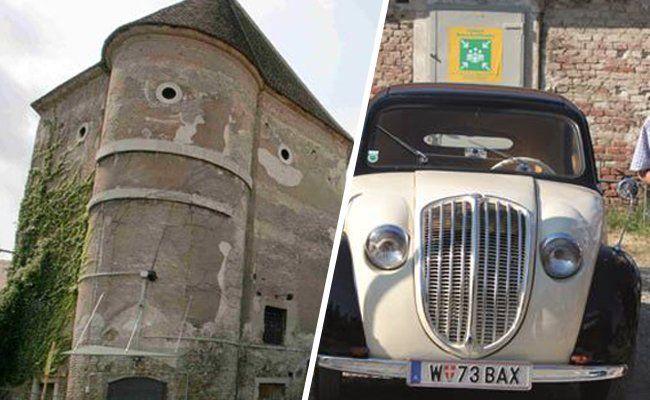 Simmering: Oldtimertreffen im Schloss Neugebäude