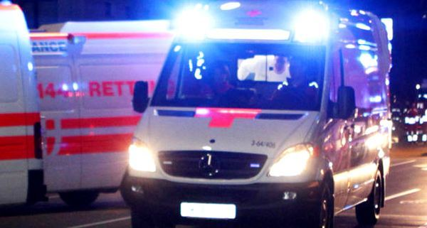 Die Rettung musste ein Hagelopfer ins Spital bringen