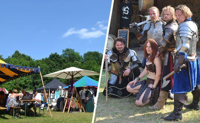Die Besucher erkundeten bei bestem Wetter das Mittelalter-Spektakel in Tribuswinkel.