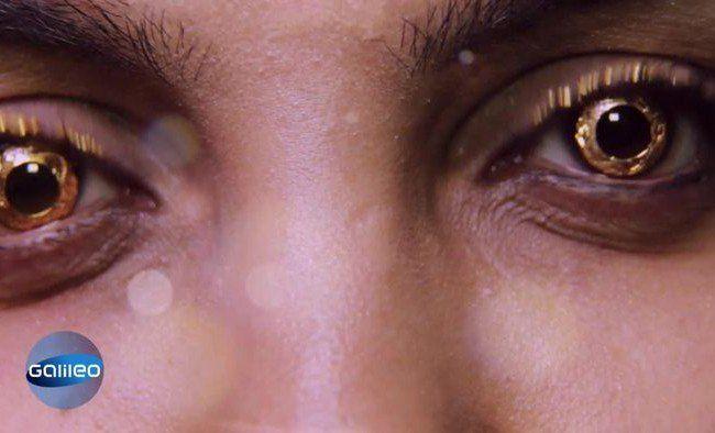 Kontaktlinsen aus Gold? Neuester Beauty-Trend aus Indien.
