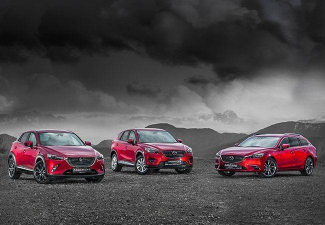 Die Mazda Allrad-Modelle.