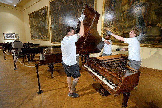 Der Flügel von Franz Liszt wird nun im Kunsthistorischen Musuem in Wien ausgestellt.