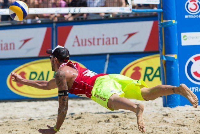 Das sind die Gruppen bei der Beach Volleyball EM 2015 in Klagenfurt.