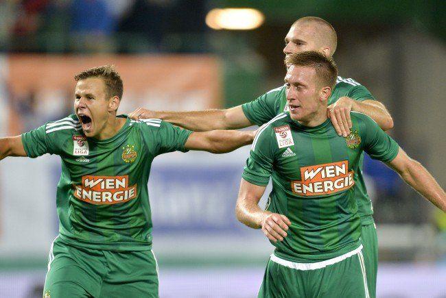 Rapid Wien konnte sich gegen Ajax durchsetzen.
