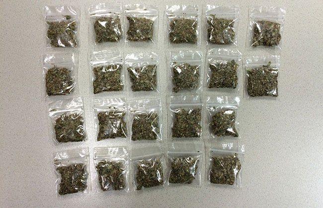 Diese Cannabis-Baggies wurden bei dem 18-Jährigen sichergestellt