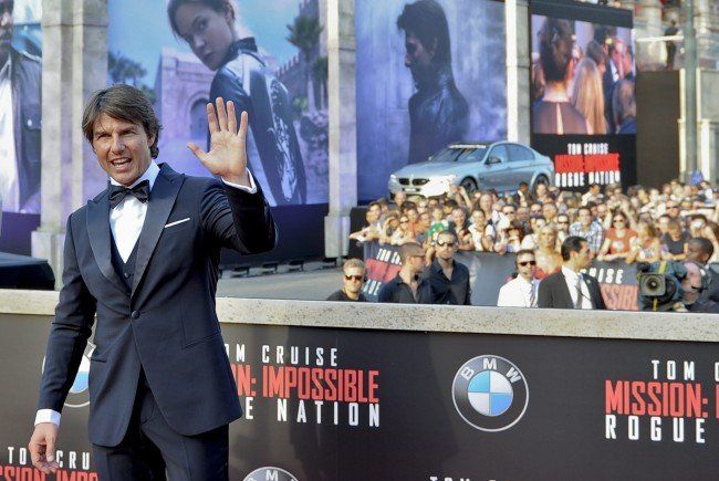 Tom Cruise bei der Weltpremiere von Mission: Impossible 5 in Wien.