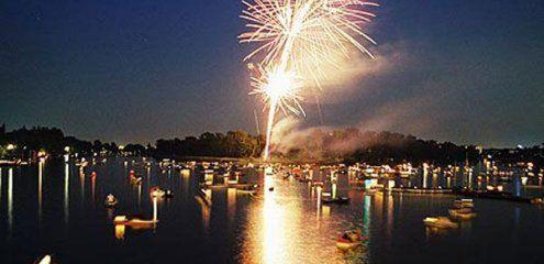 Lichterfest auf der Alten Donau