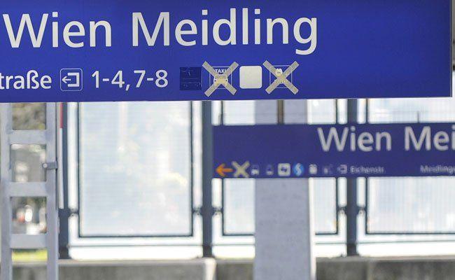 Ein 26-Jähriger wurde am Bahnhof Meidling festgenommen.