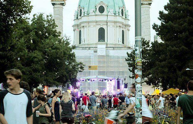 Beim Popfest 2015 am Karlsplatz