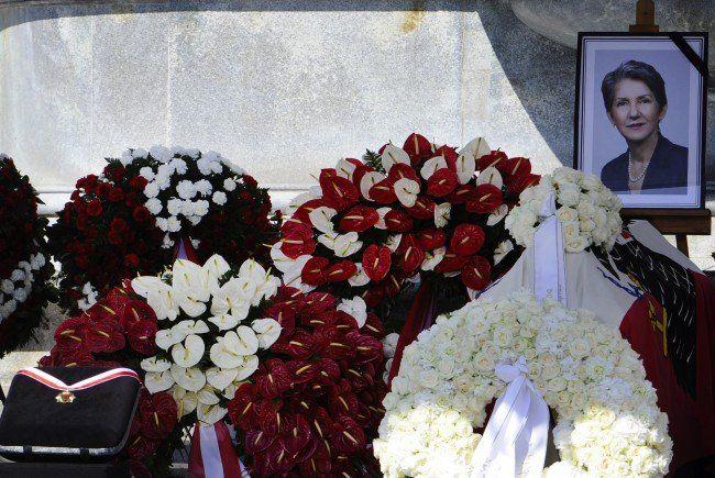 Bei der Trauerfeier für die verstorbene Nationalratspräsidentin Barbara Prammer