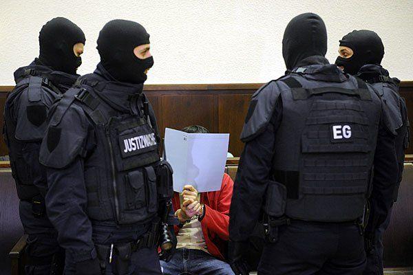 Der Angeklagte beim Prozess in Krems