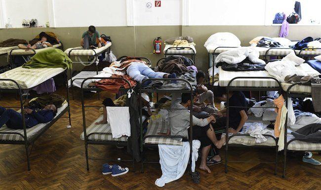 Im Erstaufnahmezentrum in Traiskirchen schlafen die Flüchtlinge bereits in Mehrbettzimmern