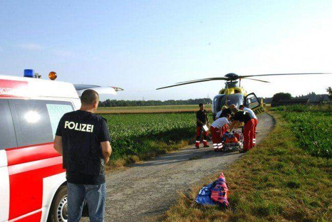 Die Schwerverletzte wurde ins Wiener AKH geflogen.