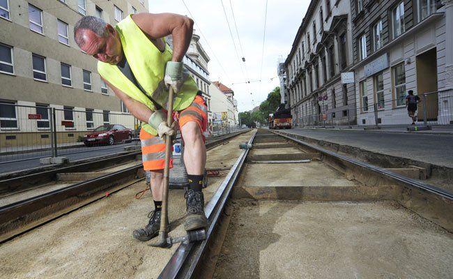 Die Wiener Linien arbeiten in diesem Sommer auf zwei Gleisbaustellen.