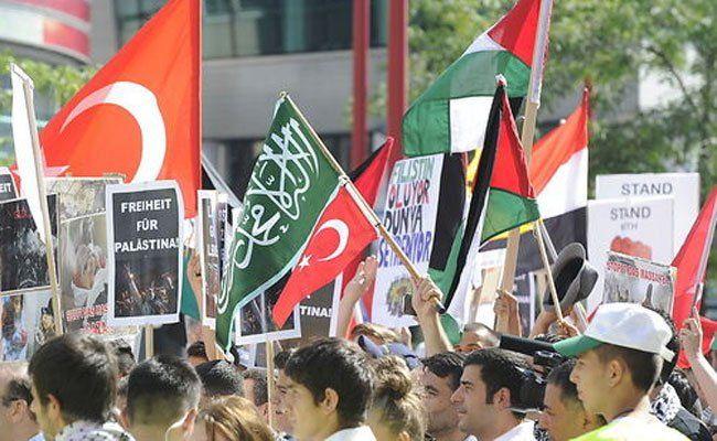 Friedliche Pro-Palästina-Demo am Samstag in Wien.