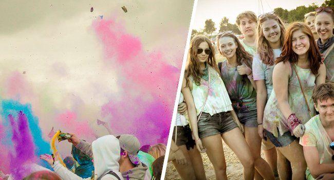 So bunt wurde das Holi Festival 2015 gefeiert.