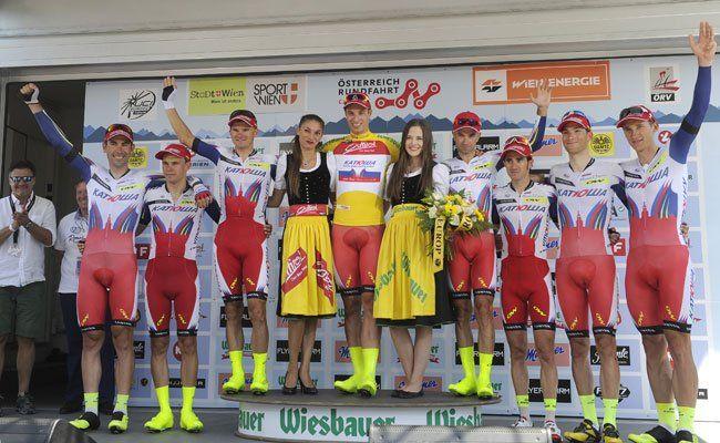 Die Sieger des Teamzeitrennens am Samstag.