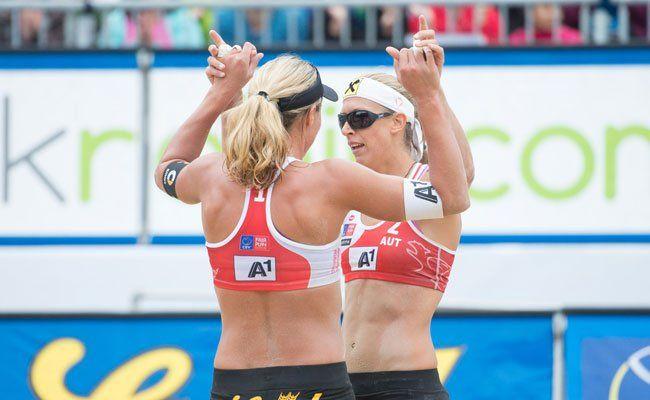 Erfolgreiches Damenteam Stefanie Schwaiger/Barbara Hansel.