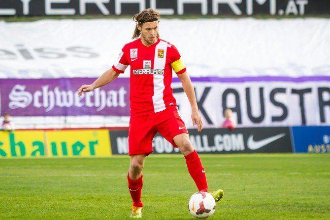Windbichler, vormals bei Admira Wacker Mödling, verletzte sich beim Spiel gegen den WAC