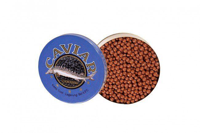 Gewinne eine von fünf Dosen Schokokaviar aus belgischer Schokolade.