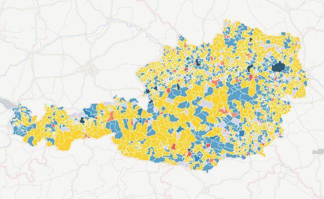 Die Karte zeigt die Asylwerber-Verteilung in den Gemeinden in Österreich.