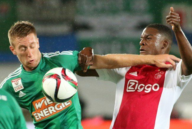Bild des Hinspiels Rapid Wien gegen Ajax Amsterdam.