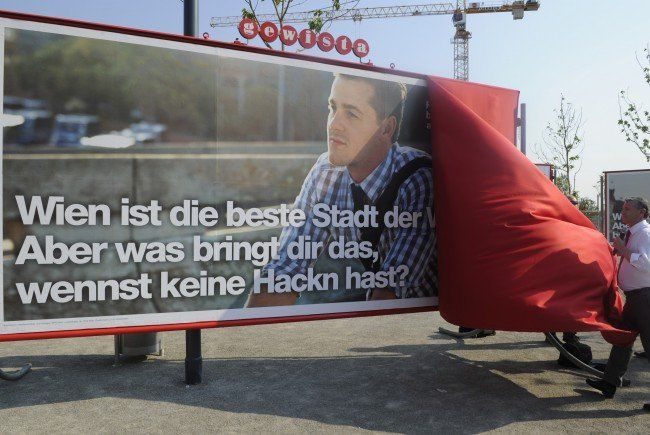 Durch die erste Plakatwelle steigen auch die öffentlichen Anzeigen.