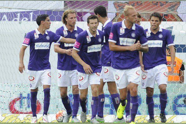 Austria Wien rehabilitierte sich mit einem 5:1-Sieg über den SV Mattersburg.