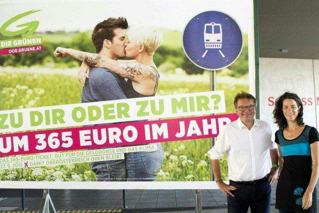 Die neuen Plakate der oberösterreichischen Grünen.