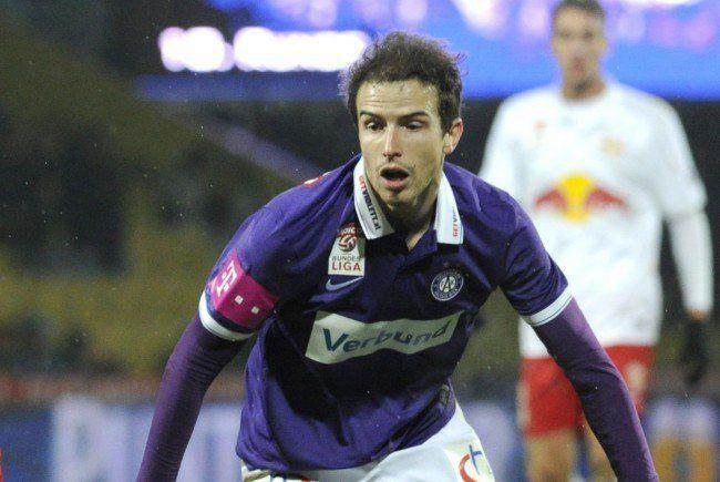 Fabian Koch und die Austria wollen die Derbyniederlage mit einem Sieg gegen Mattersburg abhaken.