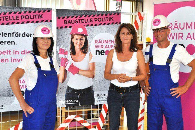 Der Wahlkampf der NEOS bei der Landtagswahl in Oberösterreich.
