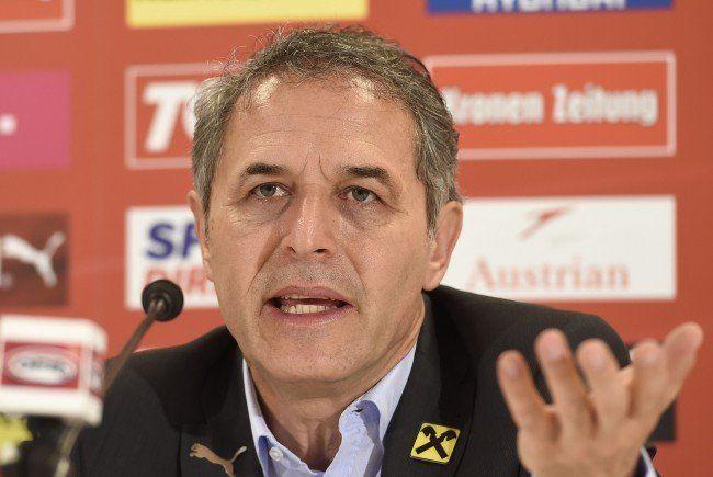 Marcel Koller und sein Team wollen zur EURO 2016.