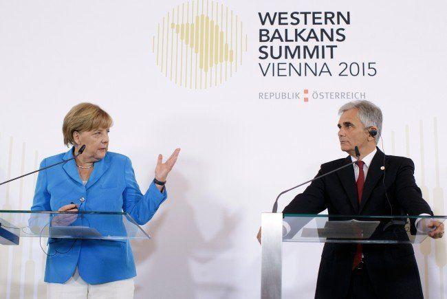 Angela Merkel und Werner Faymann zeigten Einigkeit.